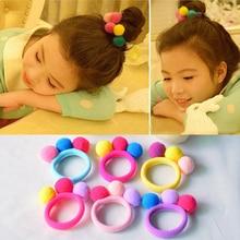 Hot Sale 2017 New Cute 3 Balls Elastics Hair Holders Bands Gum Fashion Kids Candy Rubber Headwear Girls Accessories