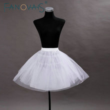 New Arrivals Black White Tulle Ball Gown Short Wedding Petticoat Above Knee Bridal Petticoats