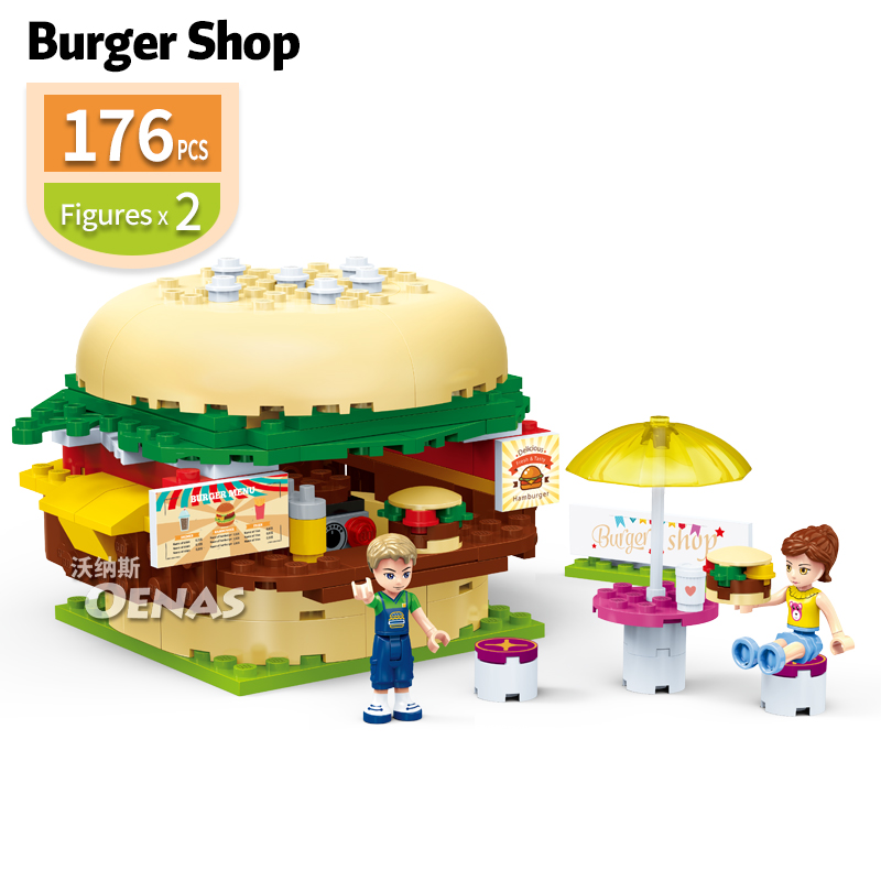 176pcs City Girls Friend amusement park Burger Shop kits Building Blocks Sets Fit Legoingly Bricks Kids Toys Children Gifts176pcs City Girls Friend amusement park Burger Shop kits Building Blocks Sets Fit Legoingly Bricks Kids Toys Children Gifts