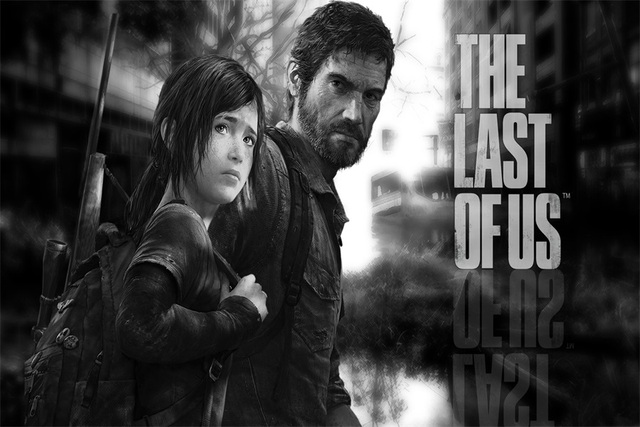 Custom Canvas Art Joel The Last Of Us Poster Last Of Us Ellie Wallpaper Game Wall Sticker Zombie Mural Christmas Decoration 2635
