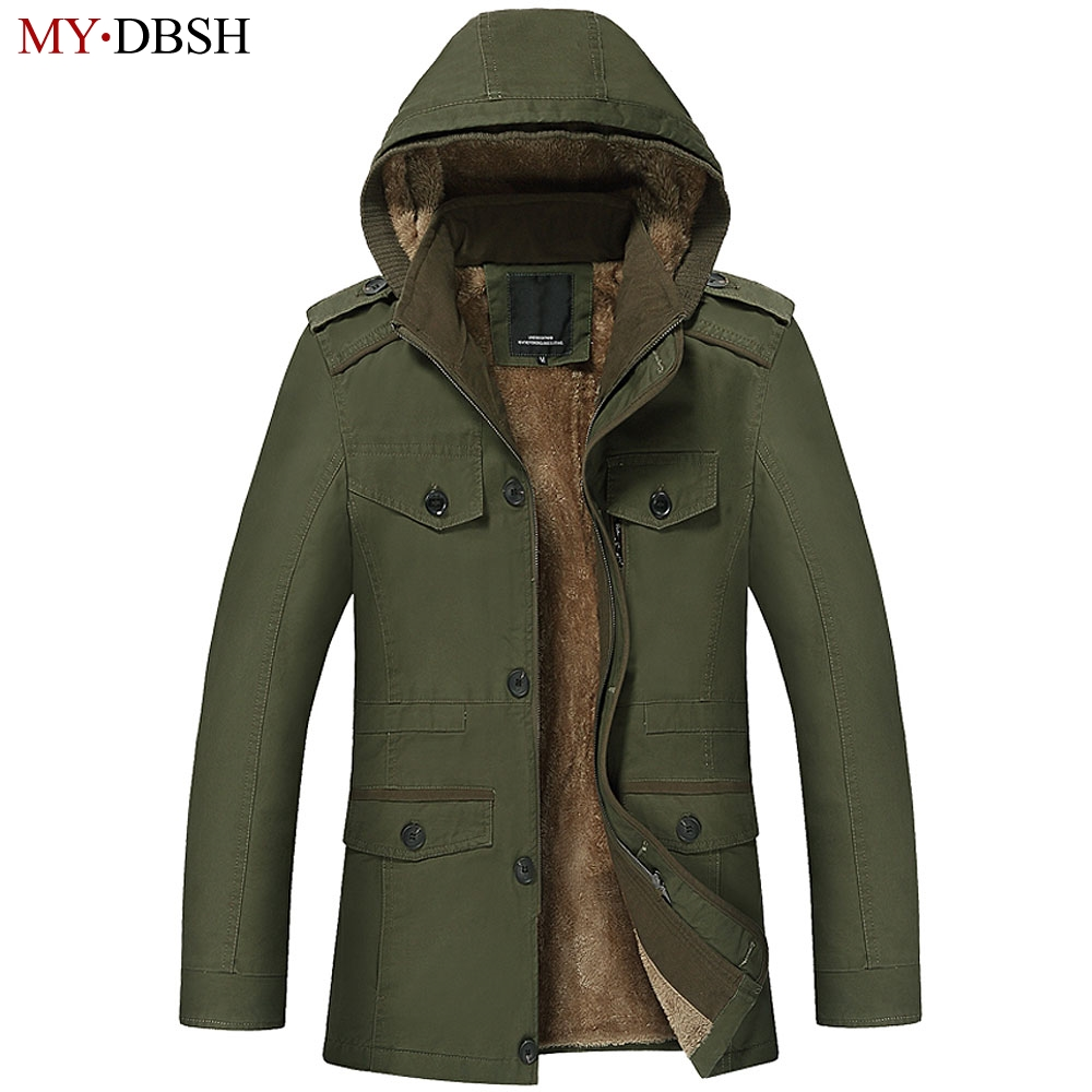 High Quality Autumn Winter Men's Jacket Coats Men Outdoors New Fashion Casual Thick Warm Fur Lined Hooded Down & Parkas S~6XL 2015 new spring autumn korea style girls cute leather lace patchwork princess long sleeve dresses baby boutique dress