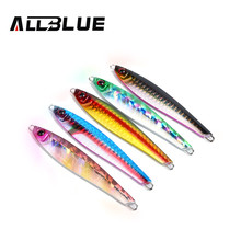 ALLBLUE High Quality Metal Jigging Spoon 36g 3D Eyes Artificial Bait Boat Fishing Jig Lures Super Hard Lead Fish Fishing Lures