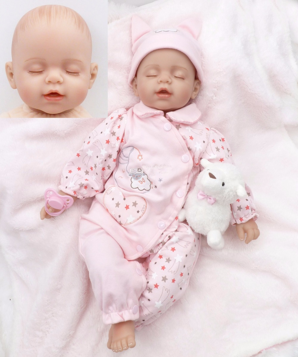 Pursue 20/51 cm Close Eyes Fake Reborn Baby Girl Boy Doll Toys Bedtime Sleep Play Gift Doll Toy for Children Girl Birthday Gift handmade 18 cute china girl doll reborn baby doll sd bjd doll best bedtime playhouse toy enducational toy for girls as gift