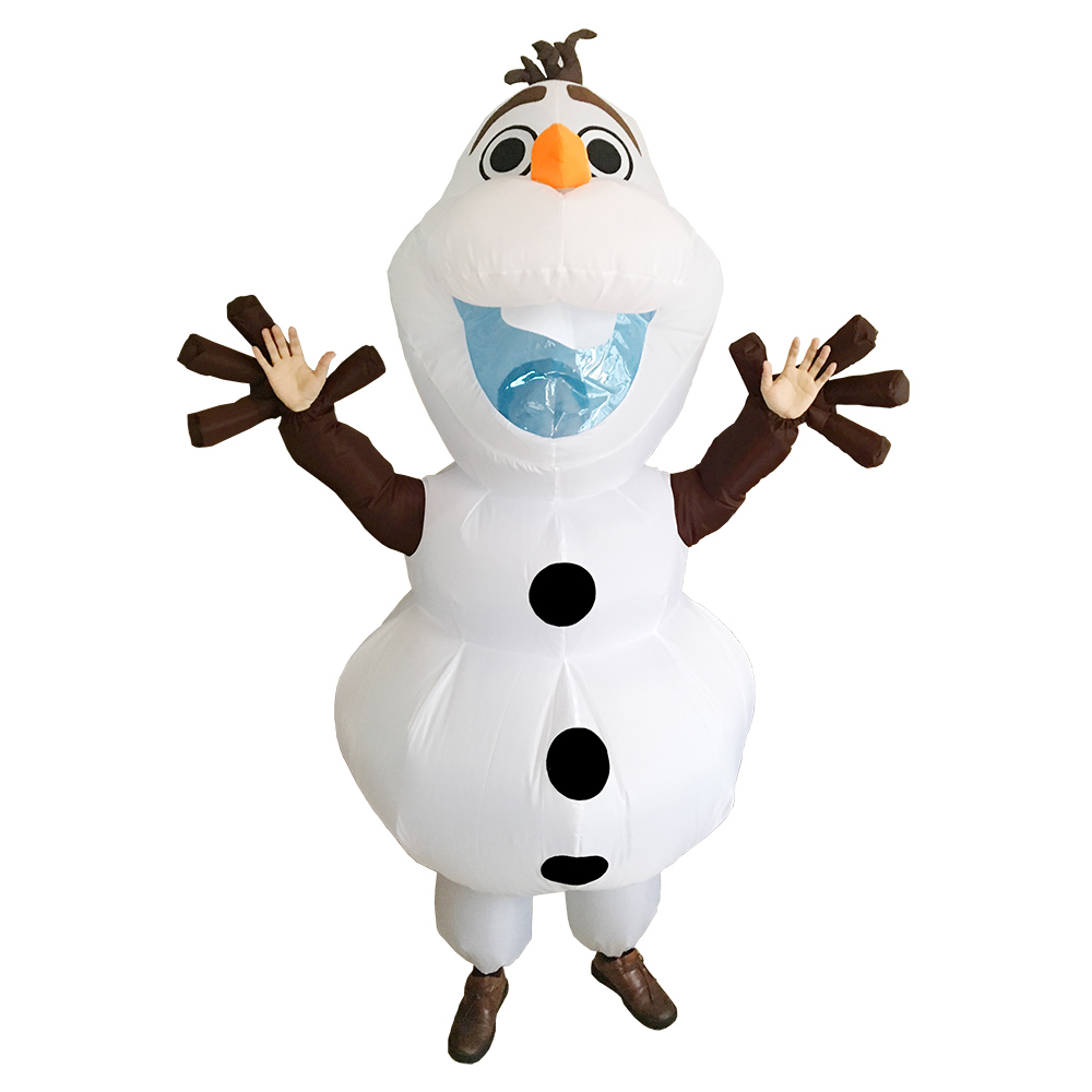 Olaf Inflatable Costume for Adult Women Men Halloween Christmas Party Carnival Cosplay Fancy Dress Snowman Blow