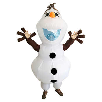 Olaf Inflatable Costume for Adult Women Men Halloween Christmas Party Carnival Cosplay Fancy Dress Snowman Blow Up Suit Mascot - DISCOUNT ITEM  39% OFF All Category