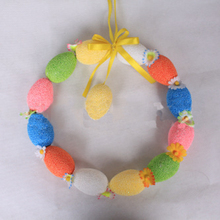 Creative Colorful Eggs Garland Easter Foam Egg Spring Easter Hanging Pendant Decorating Supplies Party Garden Home Ornament
