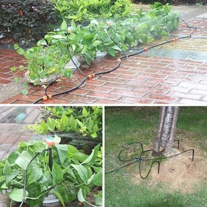 Image 5 - 新ダブルノブ防水インテリジェントタイマー点滴灌漑システムセットマイクロスプレー散水コントローラの庭散水装置