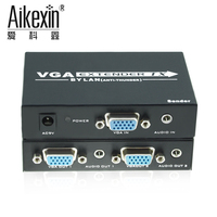 Aikexin VGA Extender 300m To Lan CAT5e 6 RJ45 Ethernet Adapter And Stereo Audio Extension Converter