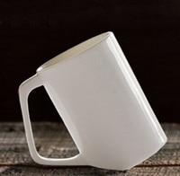 Bone china mugs passage of time Handmade white simple cup High end material mug