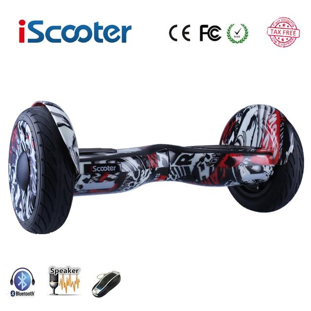 Iscooter hoverboard Bluetooth электрический самокат балансировочный самокат умный два колеса скейтборд Bluetooth динамик с пультом