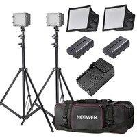 Neewer 2x160 светодиодный Диммируемый сверхвысокая мощность панель освещения Комплект для цифровой камеры видеокамеры US P