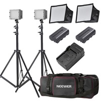 Neewer 2x160 LED Dimmable Ultra High Power Panel Lighting Kit for Digital Camera Camcorder US P