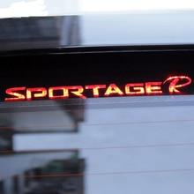 Car Brake Light Carbon fiber 3D Sticker Brake Lights Decoration Stickers Case For Kia 2011 - 2015 Sportage R accessories