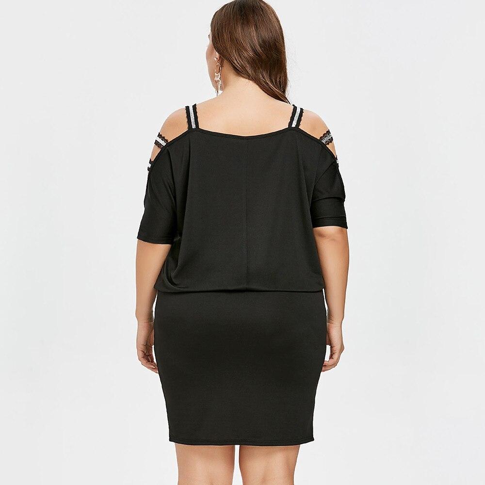 Big Size Maternity Clothings Pregnancy Dresses Plus Size Pregnant Mommy Cold Shoulder Blouson Dress
