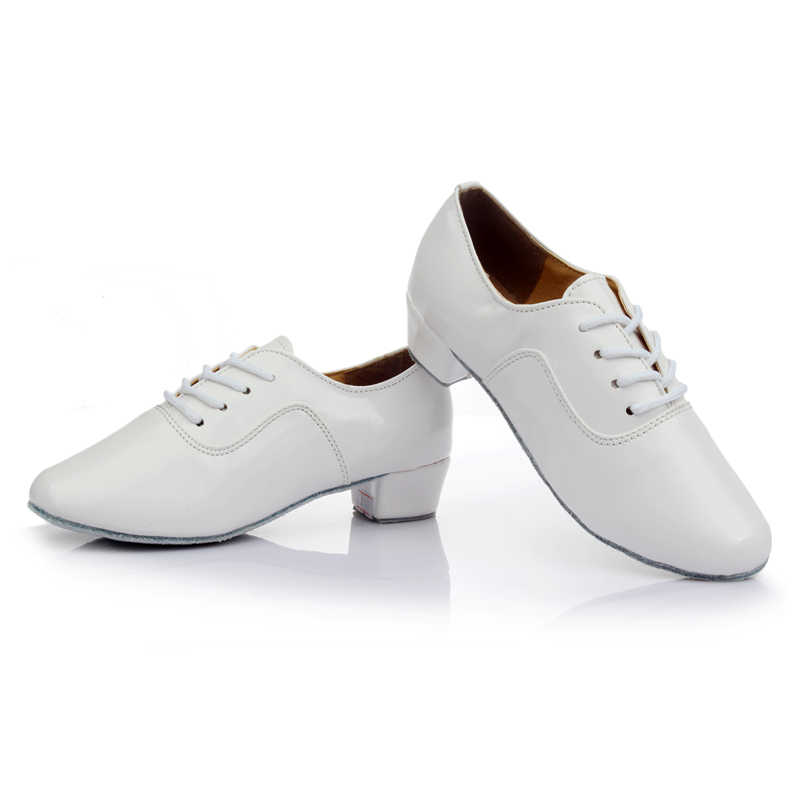 a67ce3de89 Brand New Soft Sole Men's Children's Ballroom Latin Tango Dance Shoes  Heeled Sales Black White Silver Gold Color Wholesale
