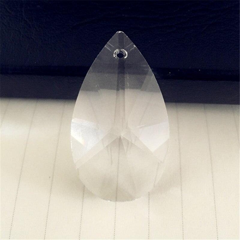 40 unids/lote 76mm cristal barroco PEAR prisma Colgantes cristal ...