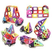 76 шт. магнитные строительные блоки плитки Развивающие Игрушки для маленьких детей DIY подарки