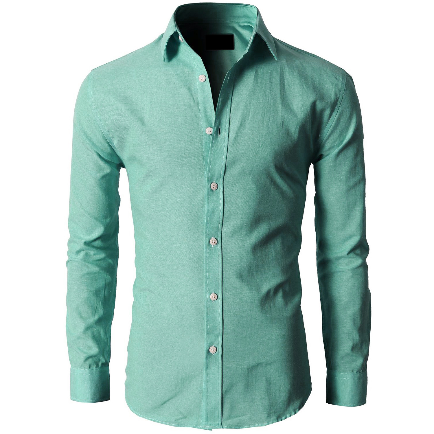 2017 NEW Stylish Casual Dress Slim Fit Shirt Casual Long Sleeve 17 Gray Green ...