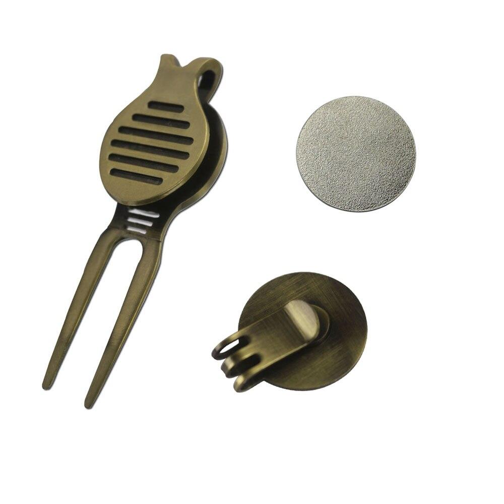 Golfballmarkierung mit starkem magnetischem Hutclip und Divot Tool - - Golf - Foto 2