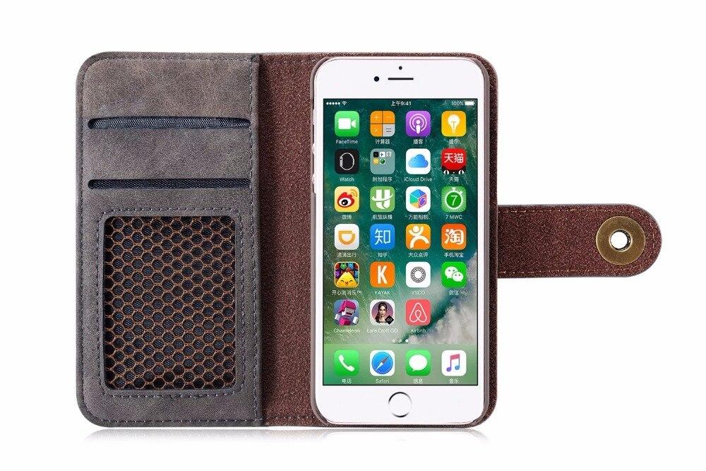 NFH klassiskt märke av läderfodral för iPhone 6 6S Plus 7 7 Plus - Reservdelar och tillbehör för mobiltelefoner - Foto 3