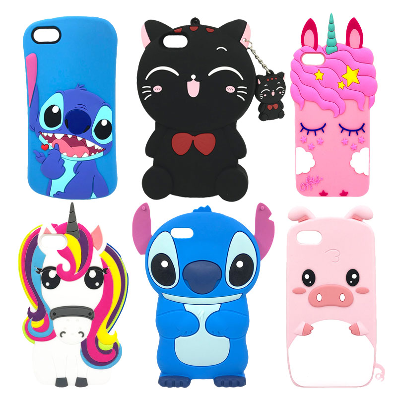 <font><b>3D</b></font> Cute Cartoon Stitch Unicorn Cat Black Minnie Mouse Silicone Soft Case Cover Cases For Huawei <font><b>Honor</b></font> <font><b>7A</b></font> <font><b>DUA</b></font>-<font><b>L22</b></font> Russian Version image
