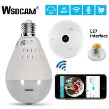 960P 360 Degree Wireless IP Camera Fisheye Panoramic Surveillance Security Camera Wifi Night Vision Bulb Lamp CCTV Cameras P2P