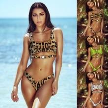 Women Swimwear Bikini Sexy 2019 New Hot Sale Swimsuit Cut Out Snake Print Tankini Classic Buttons Bathing Suit for Summer