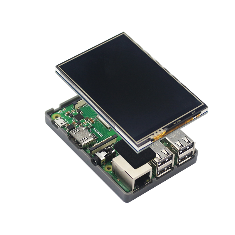 Raspberry Pi 3 Model B Plus 3.5 inch TFT Touch Screen LCD Display with New ABS Plastic Case with 4 Colors for Raspberry Pi 3