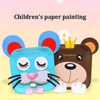 Монтессори дети милый мультфильм ручной работы сделай сам делая набор детский сад красочные бумажные пластины наклейки развивающие игрушк...