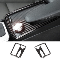 Car Carbon Fiber Central Control Water Cup Panel Cover Sticker For Mercedes Benz C Class W204 C200 C300 C180L E Class W212