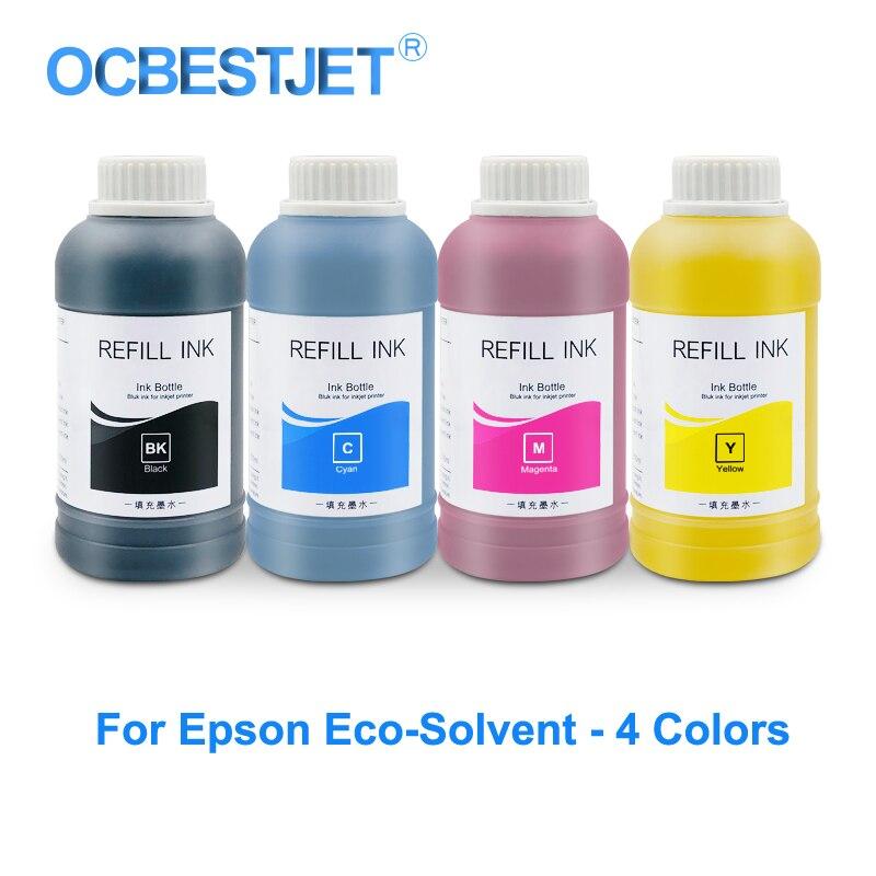 Eco-garrafa de Tinta Solvente para Epson Tinta de Impressora L362 L456 P50 T50 T60 S22 Sx125 Tx109 Tx300 Wf7015 L800 4x250ml L120 L132 L222 L355