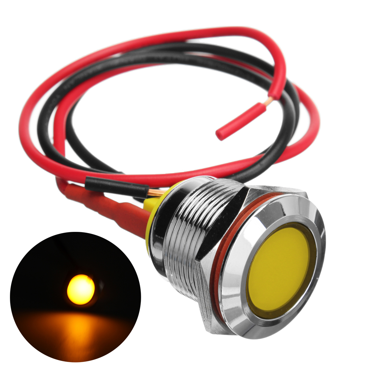 New 1Pc DC 6V 19mm IP67 Boat Light Waterproof Underwater LED Light Yellow/Red/Blue/White Swimming Pool Pond