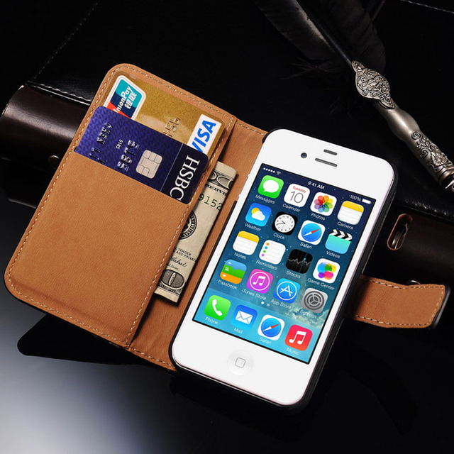 iphone 4s cases 4s flip wallet leather cover for iphone 4s 4 luxury 10909