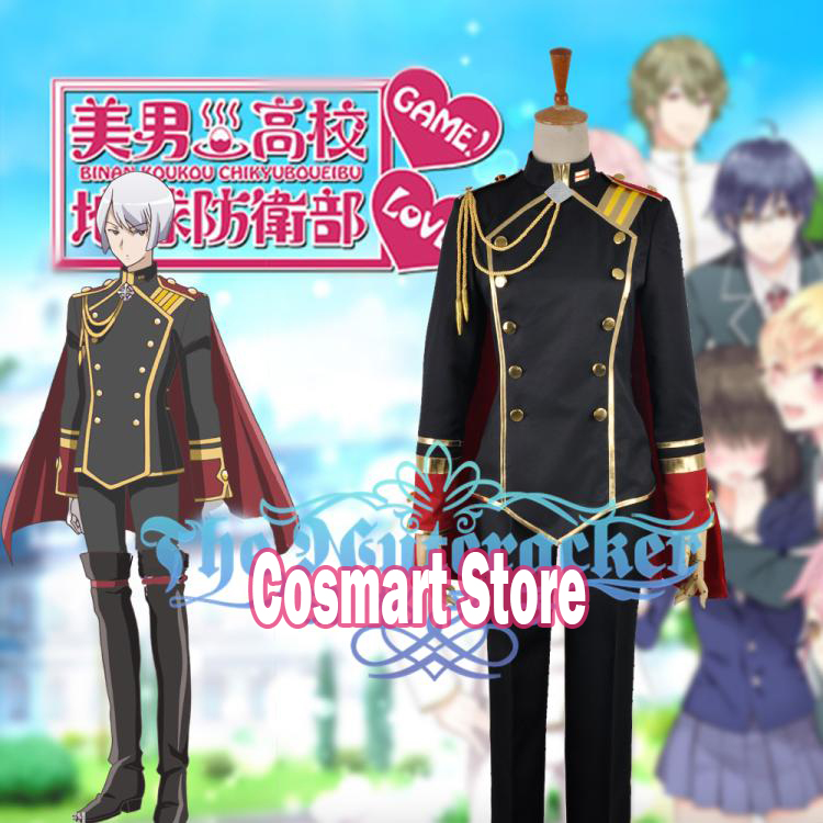 Anime Cute High Earth Defense Club Love!Kinshiro Kusatsu Ibushi Arima Akoya Gero uniform Halloween Cosplay Costume free shipping