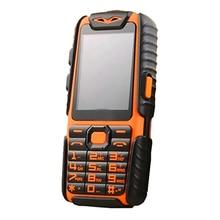 Водонепроницаемый A6 Мобильные аккумуляторы телефон противоударный громкий Динамик сильный фонарик Dual SIM 2.4 дюйма (можно добавить Rusian клавиатура)