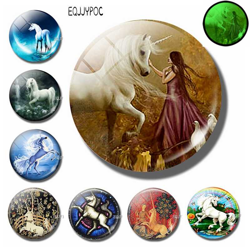 Glowing At Night Love Unicorn Fridge Magnet Removable 3d Cartoon Animal Glass Decorative Refrigerator Magnetic Sticker