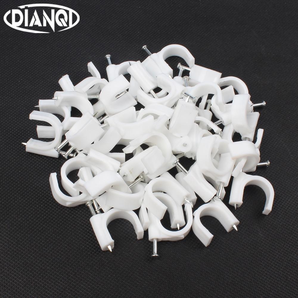 цена на 16 MM Circle Path Circle cable clips cable nail/ wire clips 100PCS/bag 16mm cable clips Round white Y16