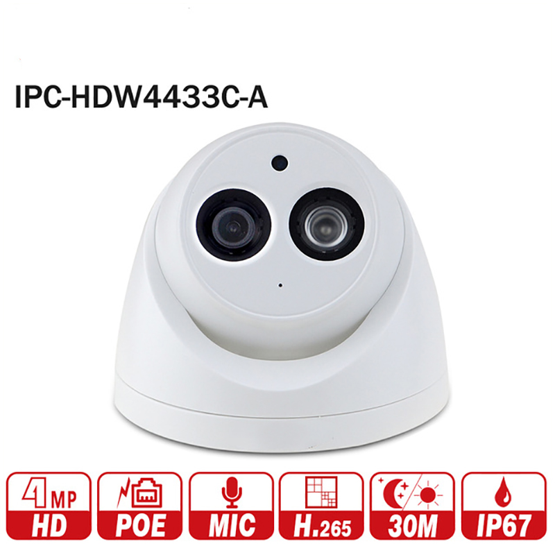 DH 4MP POE IP Camera IPC-HDW4433C-A repalce IPC-HDW4431C-A Network IR Built-in Micro CCTV Mini Dome Camera Night vision 2017 new xduoo ep1 high fidelity dynamic driver 3 5mm in ear earphone sport headset noise cancelling headphone hifi subwoofer