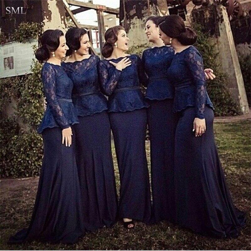 SML Cheap Long Sleeve Royal Blue Lace Peplum Plus Size ...