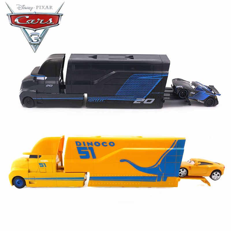 דיסני פיקסאר מכוניות 3 לייטנינג מקווין קרוז הדוד משאית כל קריקטורה דמויות דגם ג 'קסון 1:55 צעצועי כלי רכב בני חג המולד מתנות