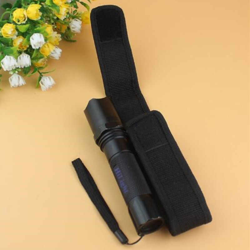 Taktis Molle Nilon Senter Model Torch Case untuk Sabuk Torch Penutup Outdoor Camping Hiking Portable