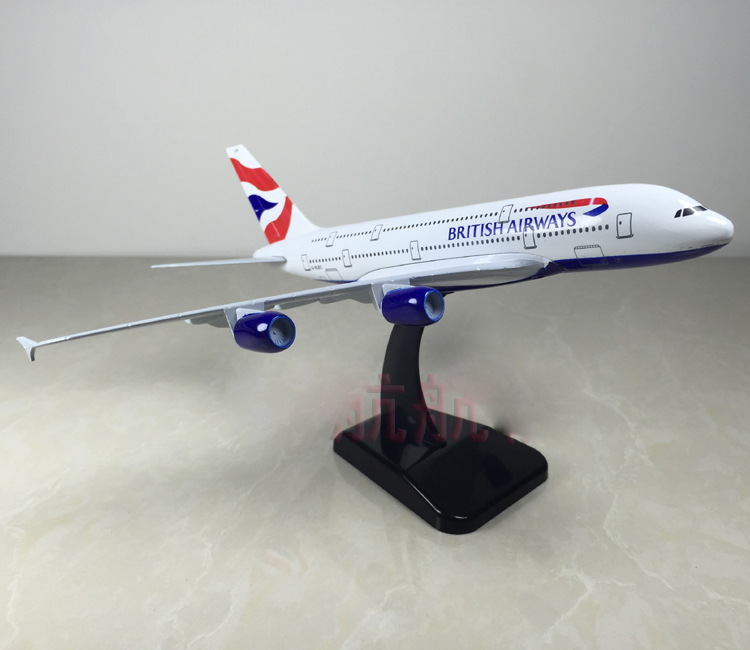 British Airways A380 Model Aircraft 1/400 Scale Gemini Jets Diecast Metal Model Plane ...