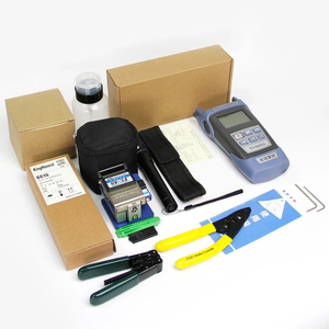 Image 2 - FTTH Fiber Optic Tool Kit 12pcs/set FC 6S Fiber Cleaver  70~+3dBm Optical Power Meter 5km Laser pen