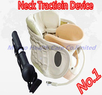 Free shipping Best medical Cervical traction neck collar/spinal care brace neck therapy device treatment support