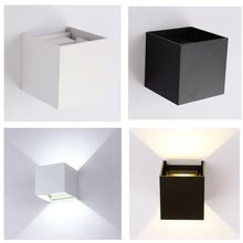 GLW Wall light Indoor Sconces White Warm/White Modern Night LED Outdoor Hallway Waterproof Black Small Up Down Bedside Simple