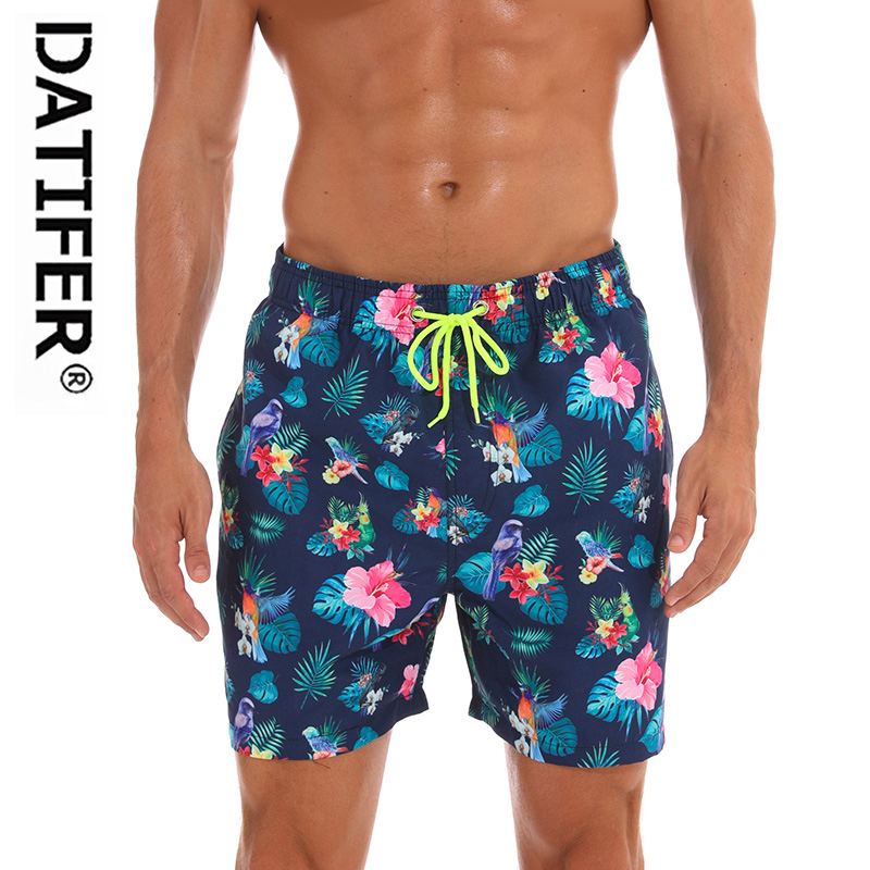 DATIFER Brand Man Swimsuits BeachWear   Board     Shorts   Homme Sport Plus Size XXXL Briefs Quick Dry Swimwear Surf   Shorts   ES4U