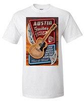 멋진 T 셔츠 디자인 크루 넥 짧은 오스틴 텍사스 기타