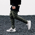 2016 New Men Hip Hop Pants Bottom Side Zippers Joggers Mens Casual Urban Clothing Harem Pants Trousers For Men
