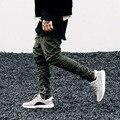 2016 Nuevos Hombres de Hip Hop Pantalones Bottom Cremalleras Laterales Joggers Mens Casual Pantalones Harem Pantalones Hombres De Ropa Urbana