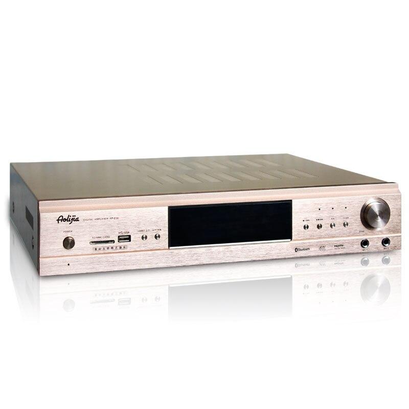 цена на 2018 220V AP-838 home amplifier 3D4K HD HDMI Digital fiber coaxial DTS decoding 5.1 high-power built-in Bluetooth amplifier